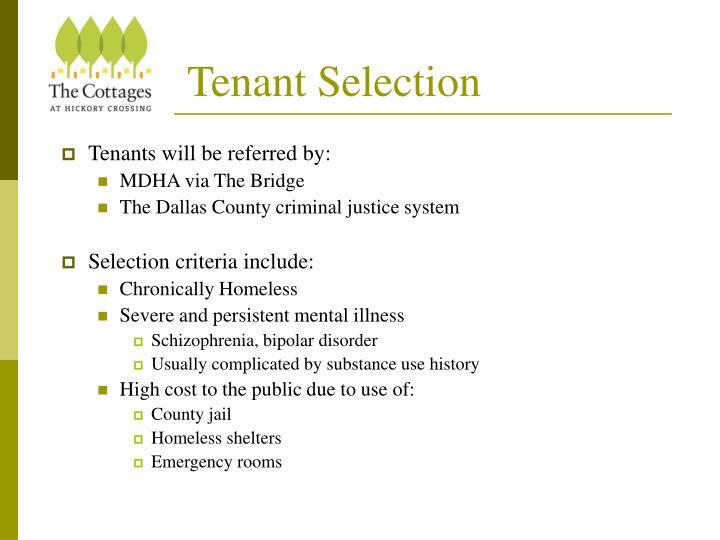 Tenant Selection
