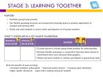 stage 3 learning together