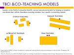 tbci co teaching models