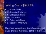 wiring cost 941 85
