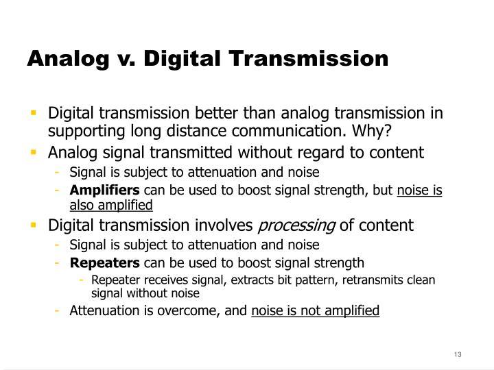Analog v. Digital Transmission