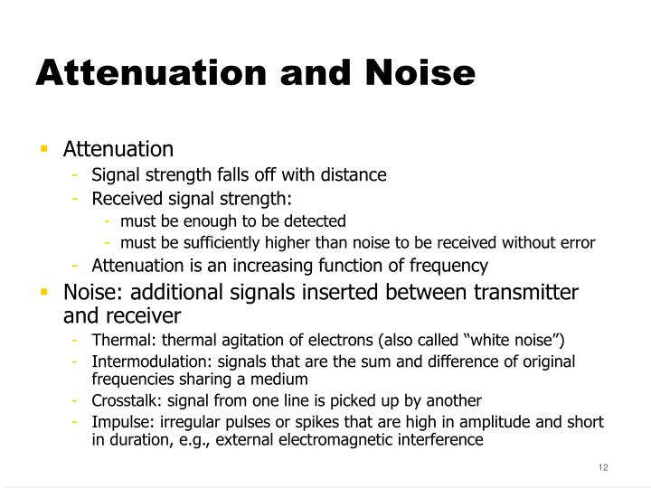 Attenuation and Noise
