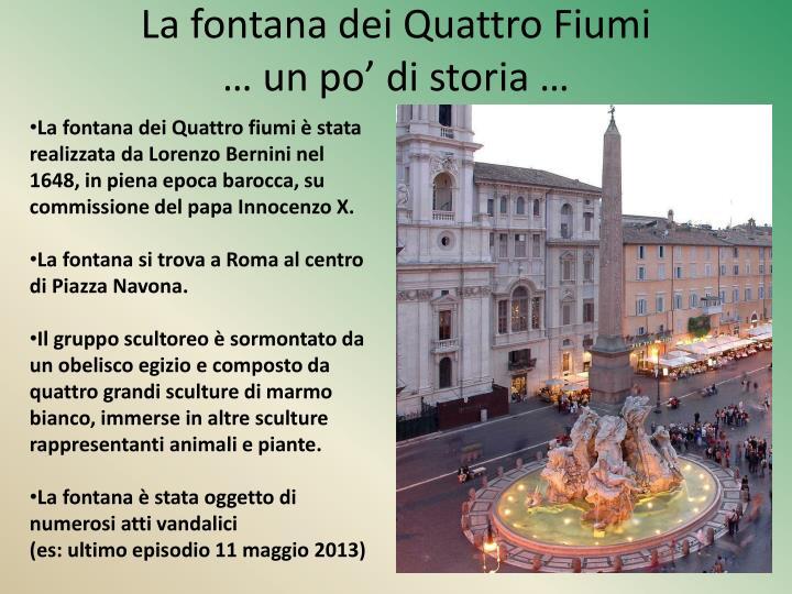 La fontana dei Quattro Fiumi