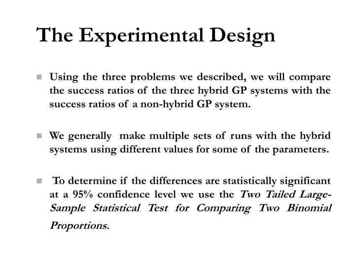 The Experimental Design