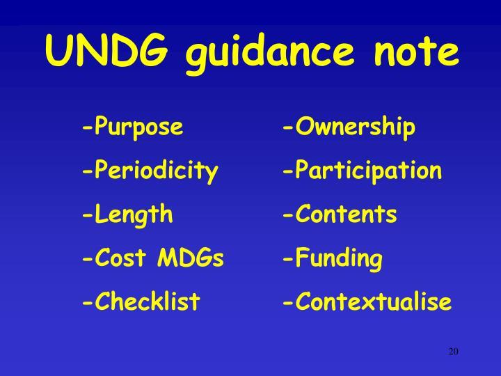 UNDG guidance note