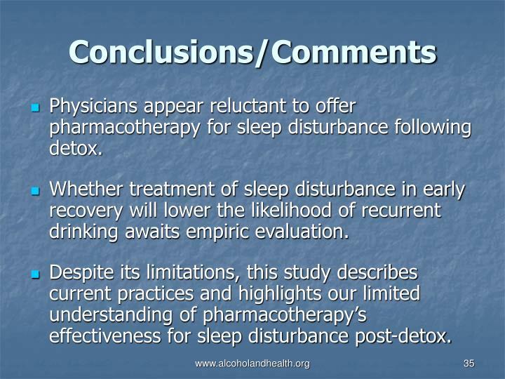 Conclusions/Comments