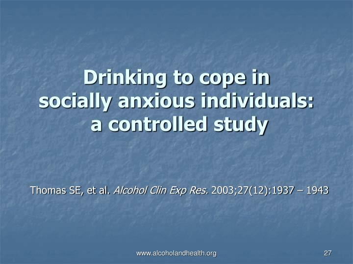 Drinking to cope in