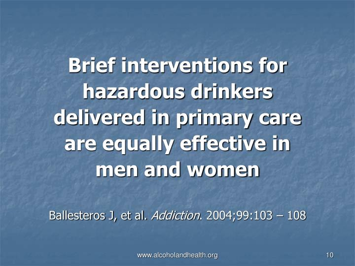 Brief interventions for