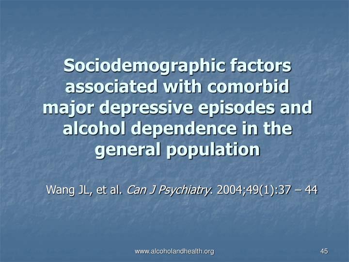 Sociodemographic factors associated with comorbid