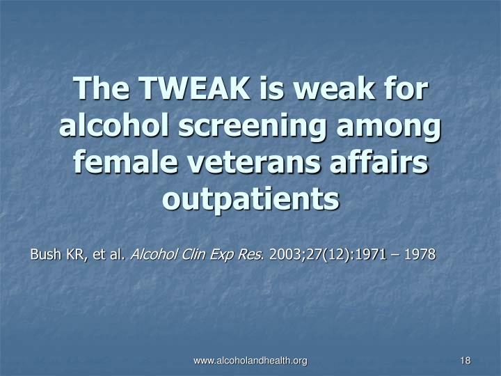 The TWEAK is weak for