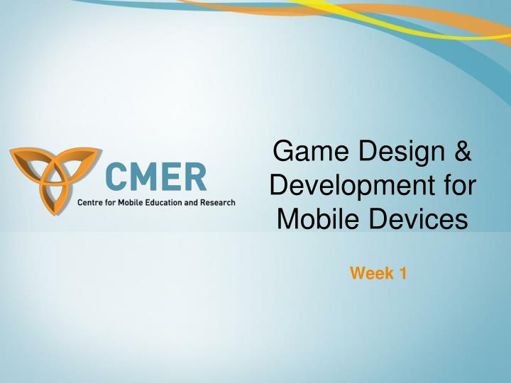 game design development for mobile devices