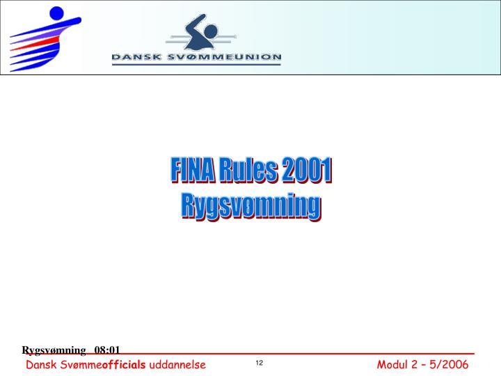 FINA Rules 2001