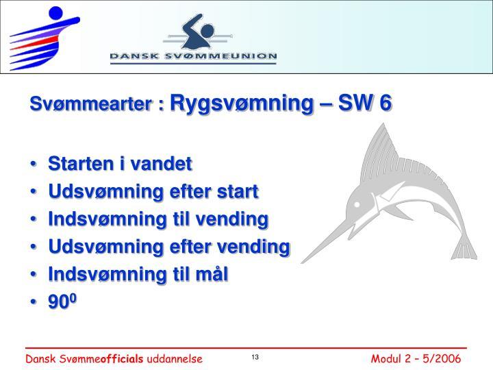 Svømmearter :
