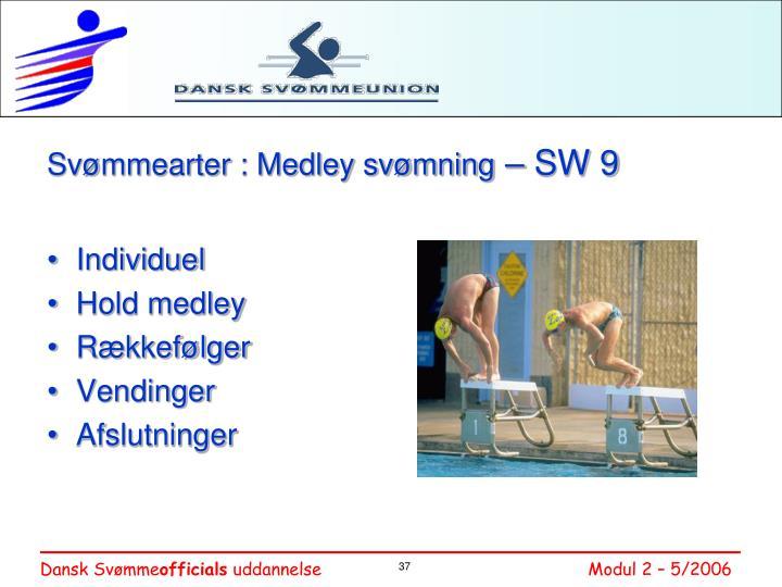 Svømmearter : Medley svømning