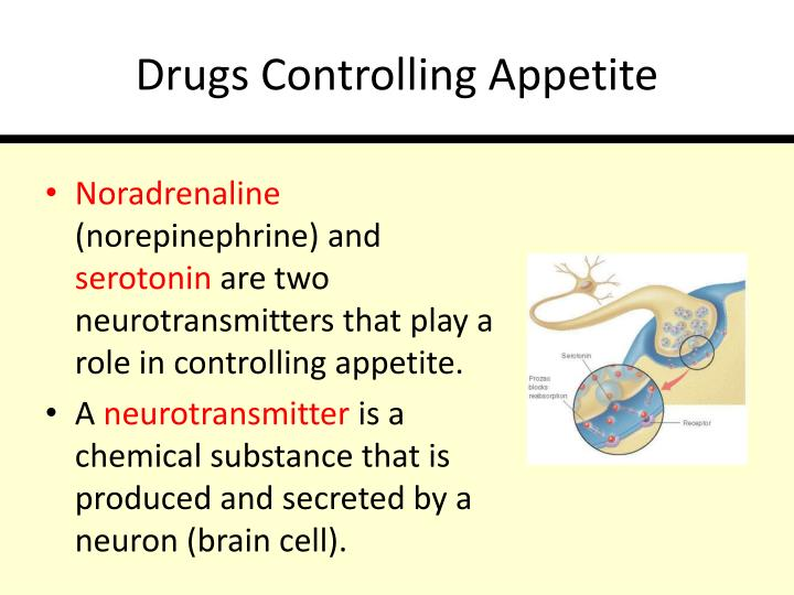 Drugs Controlling Appetite
