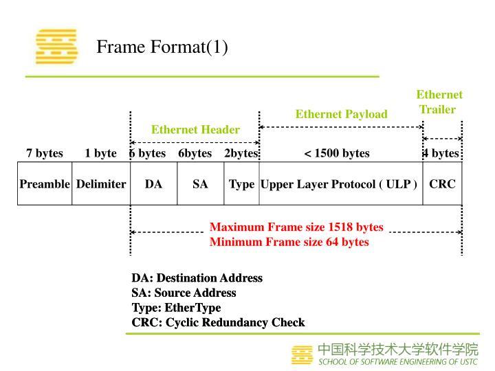 Frame Format(1)