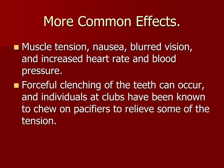 More Common Effects.