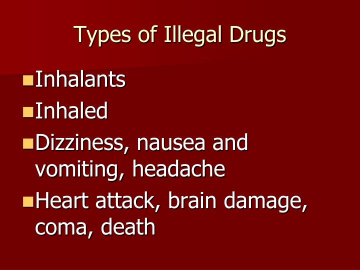 Types of Illegal Drugs