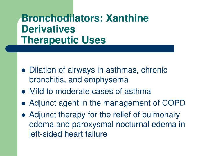 Bronchodilators: Xanthine Derivatives