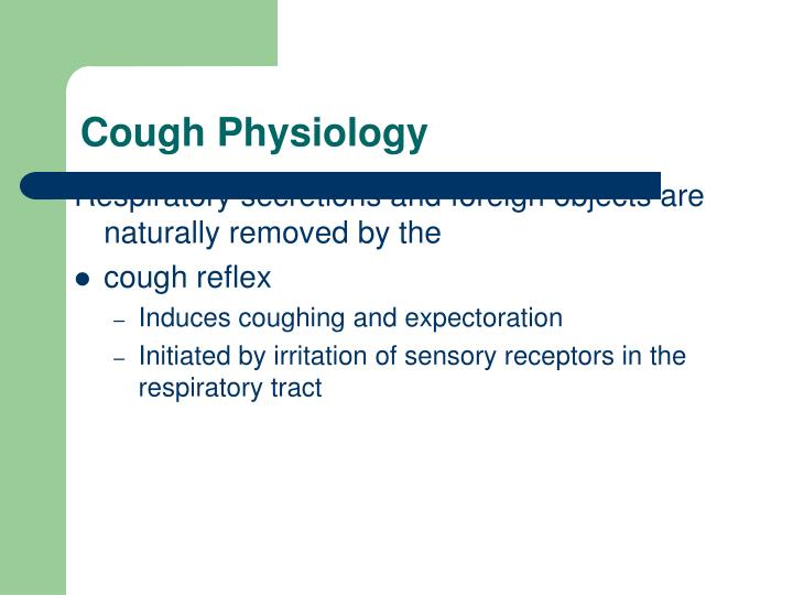 Cough Physiology