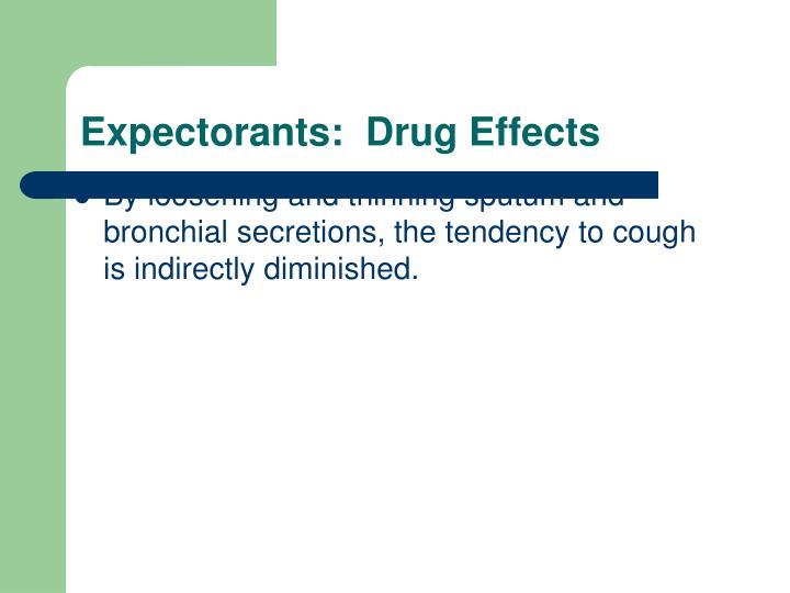 Expectorants:  Drug Effects