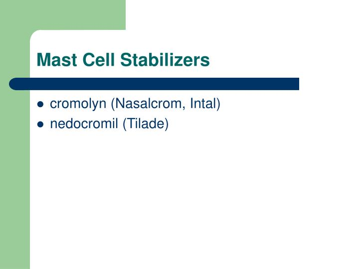 Mast Cell Stabilizers