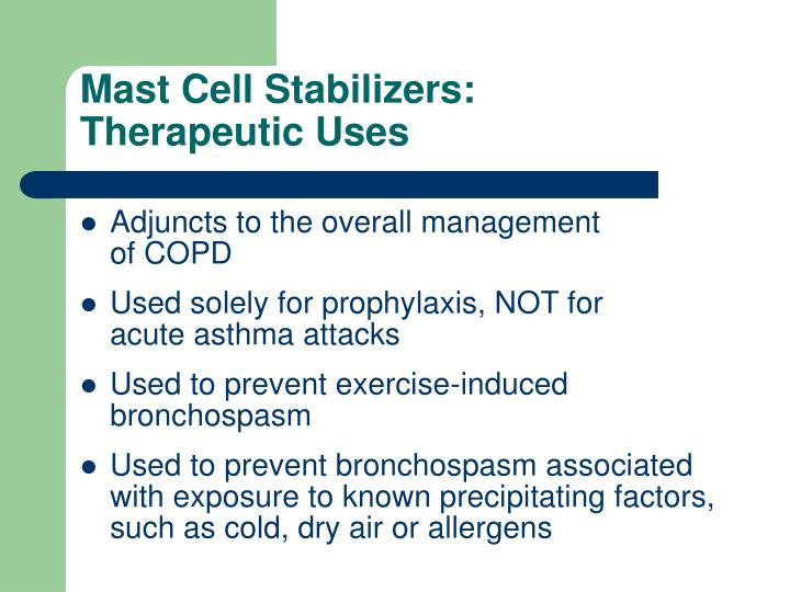 Mast Cell Stabilizers: