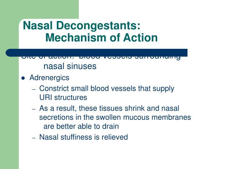 Nasal Decongestants: Mechanism of Action