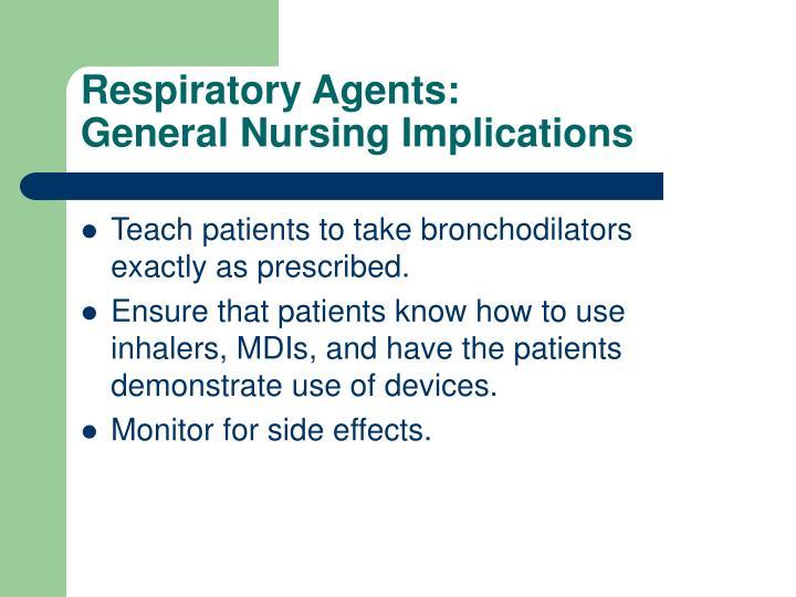 Respiratory Agents: