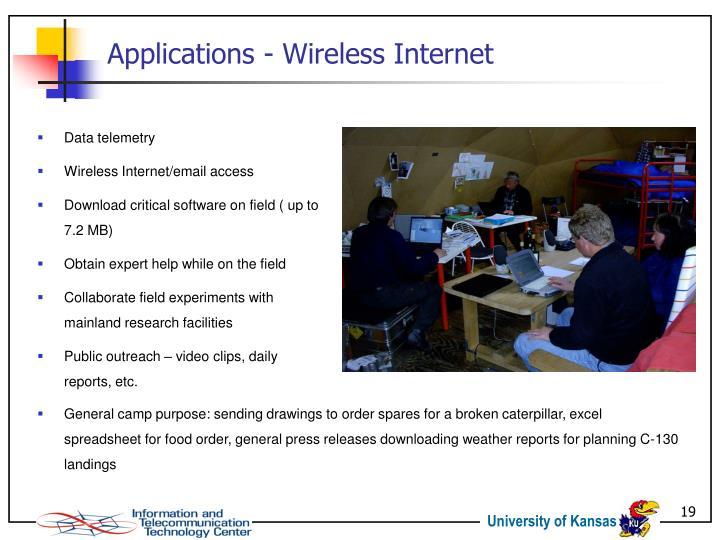 Applications - Wireless Internet