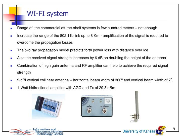 Range of  the commercial off-the-shelf systems is few hundred meters – not enough
