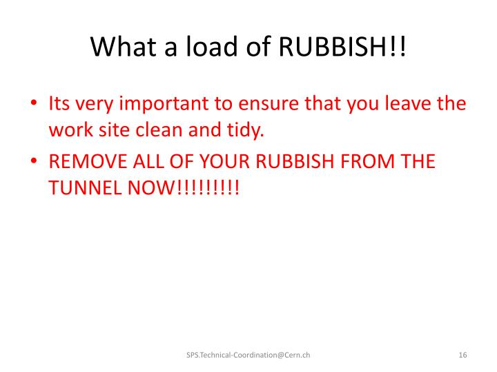 What a load of RUBBISH!!
