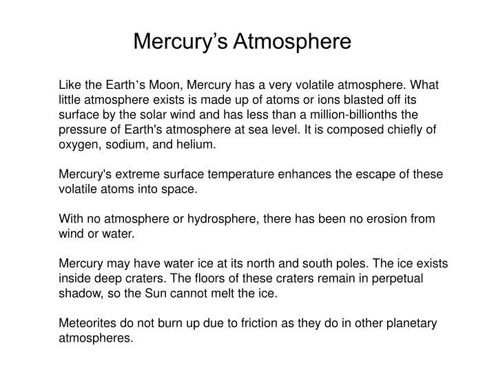 Mercury's Atmosphere