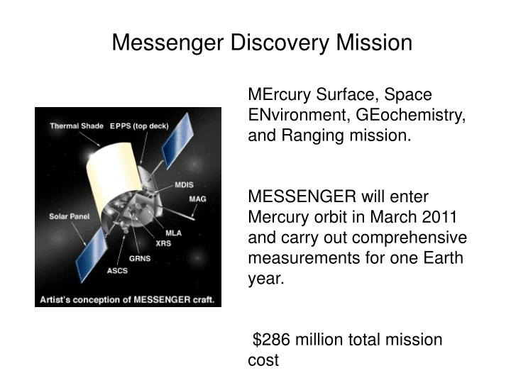 Messenger Discovery Mission