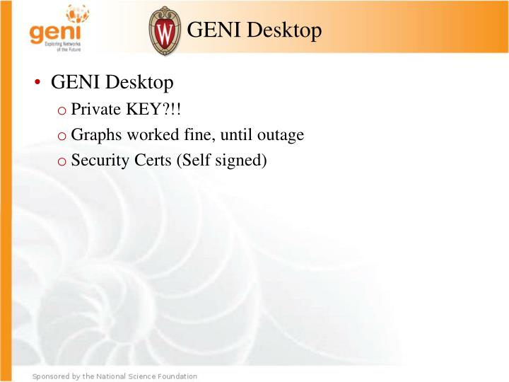 GENI Desktop