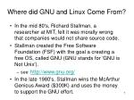where did gnu and linux come from
