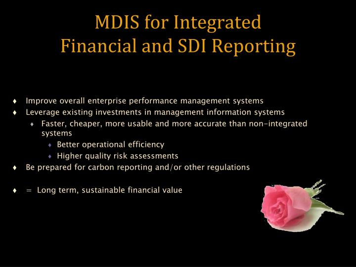 MDIS for Integrated