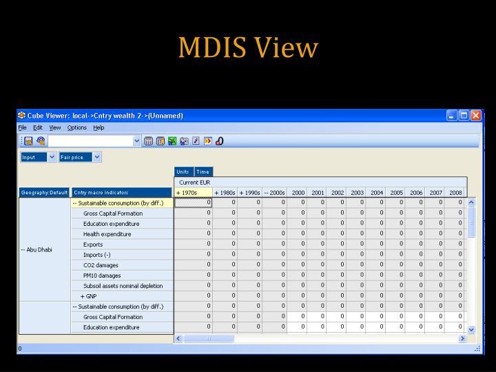 MDIS View
