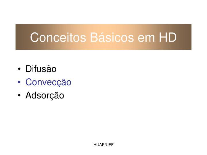 Conceitos Básicos em HD