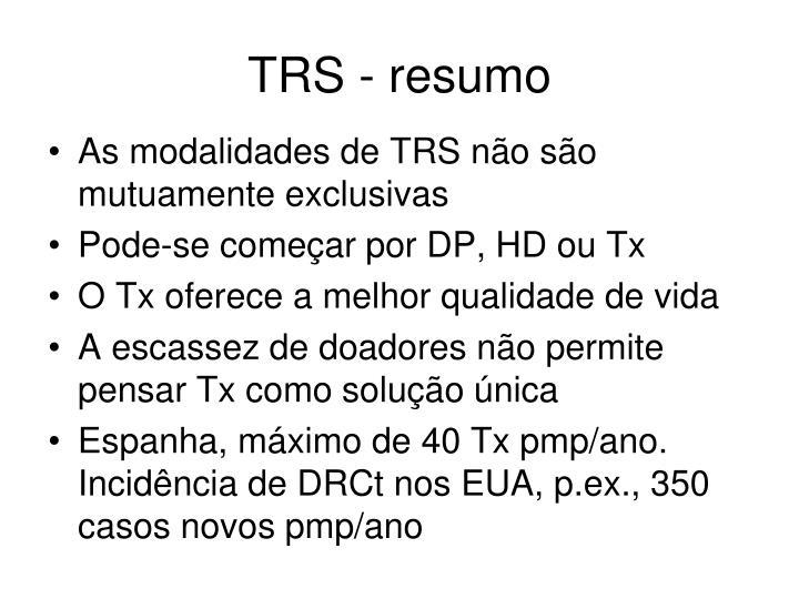 TRS - resumo