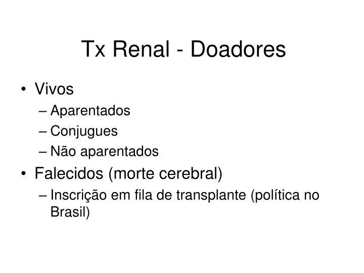 Tx Renal - Doadores