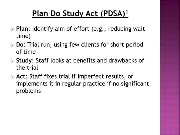 Plan Do Study Act (PDSA)