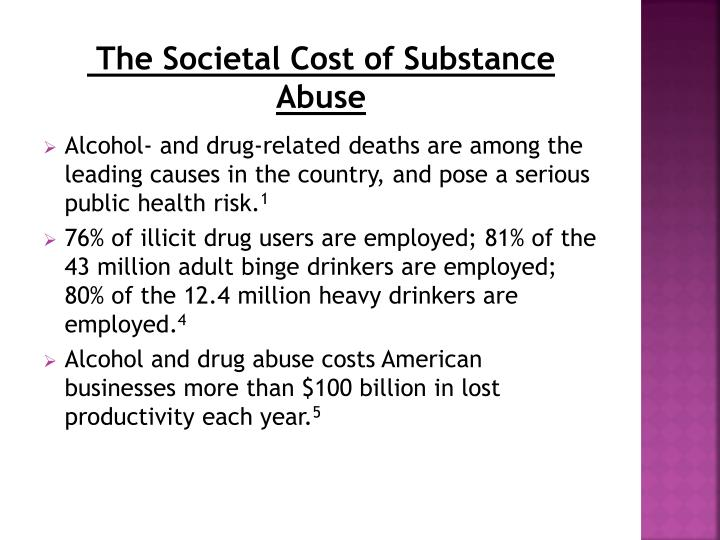 The Societal Cost of Substance Abuse