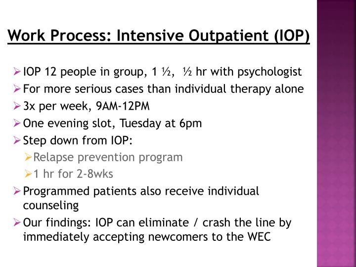 Work Process: Intensive Outpatient (IOP)