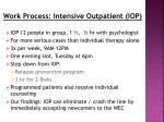 work process intensive outpatient iop
