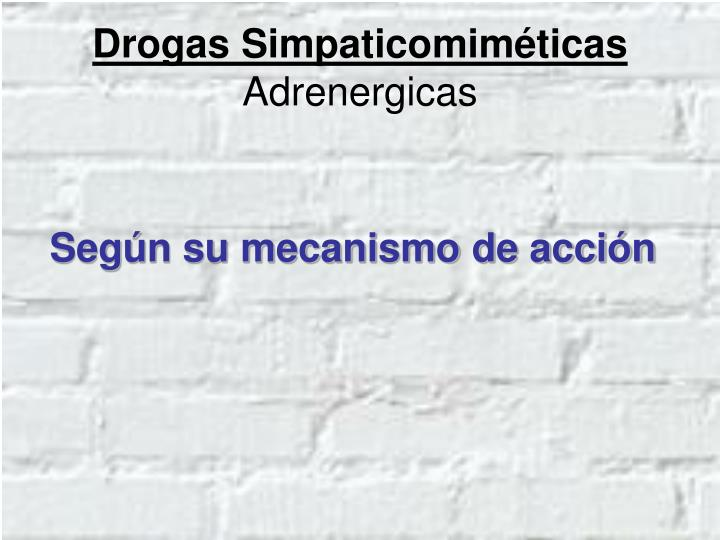 Drogas Simpaticomiméticas