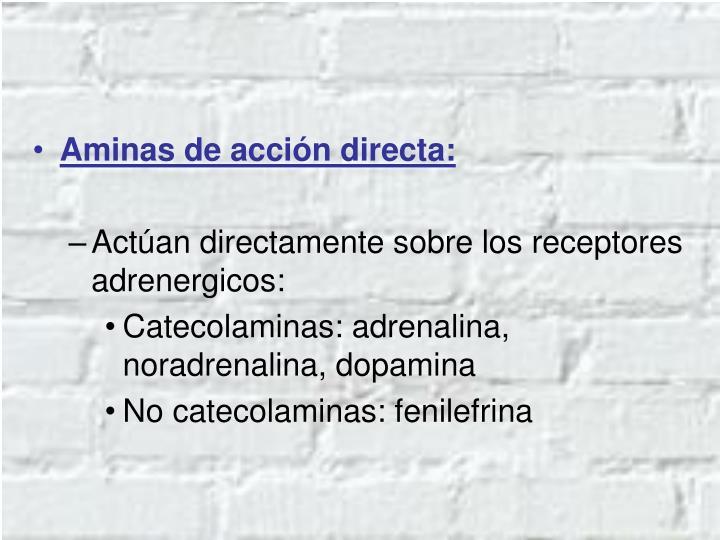 Aminas de acción directa: