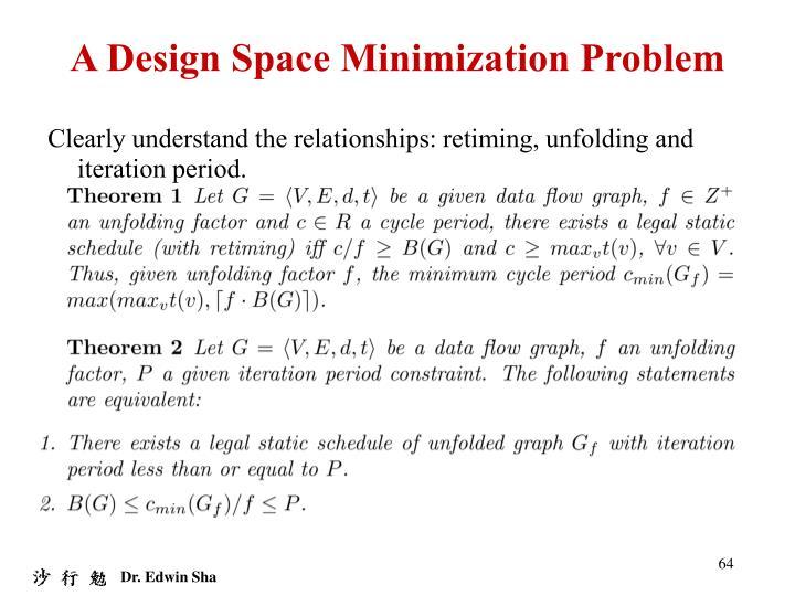 A Design Space Minimization Problem
