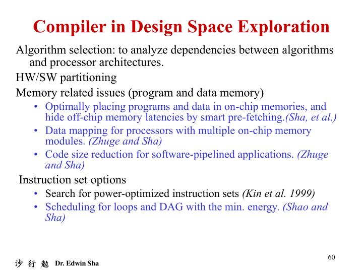 Compiler in Design Space Exploration