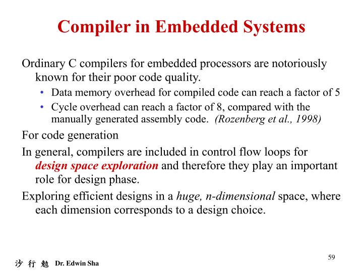 Compiler in Embedded Systems